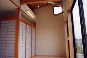田上新町の家縁側